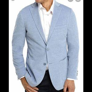 Michael Kors Men's Light Blue Knit Sport Coat